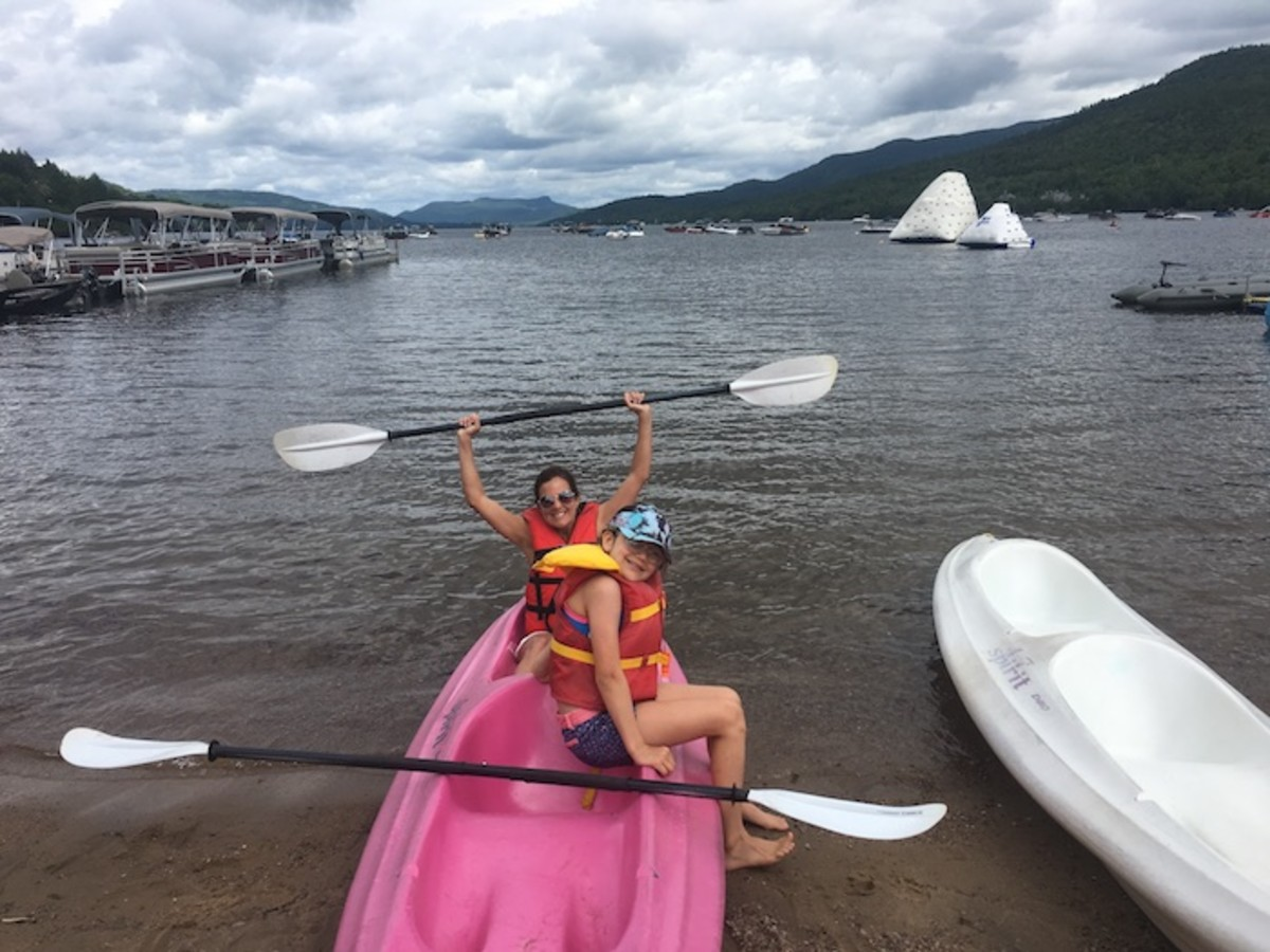 kayaking mont tremblant lake