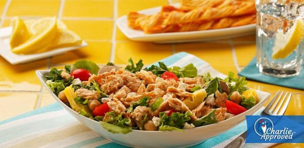 Lemon Dill Salmon Salad.