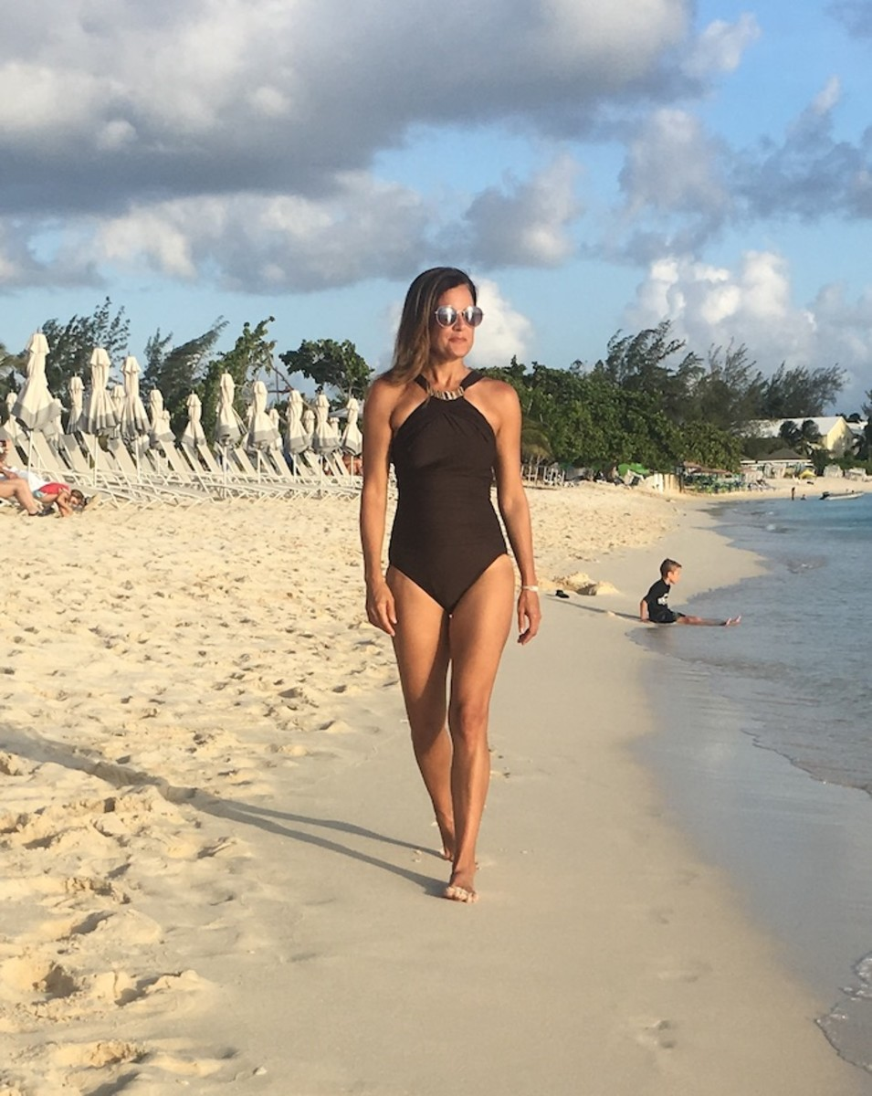 Miraclesuit Brown Swimsuit