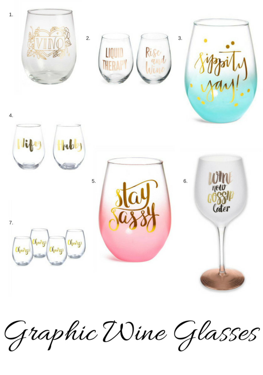 Graphic Wine Glasses