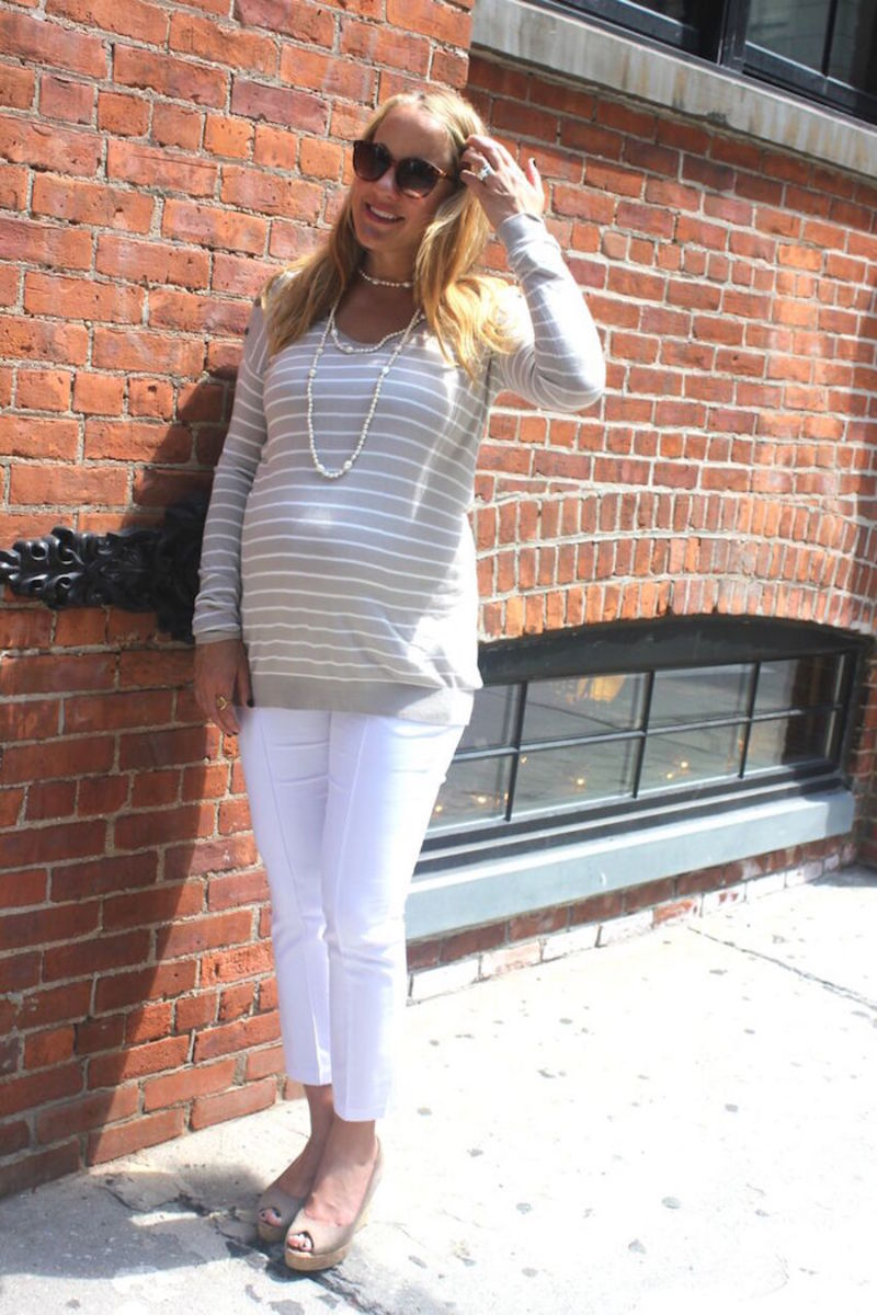 Maternity Fashion Sweater and Pants