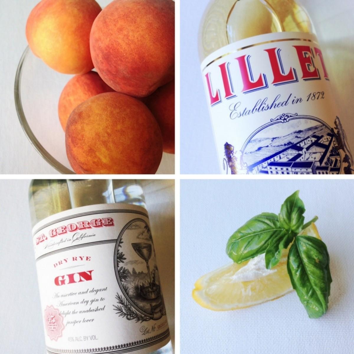 Peach cocktail ingredients