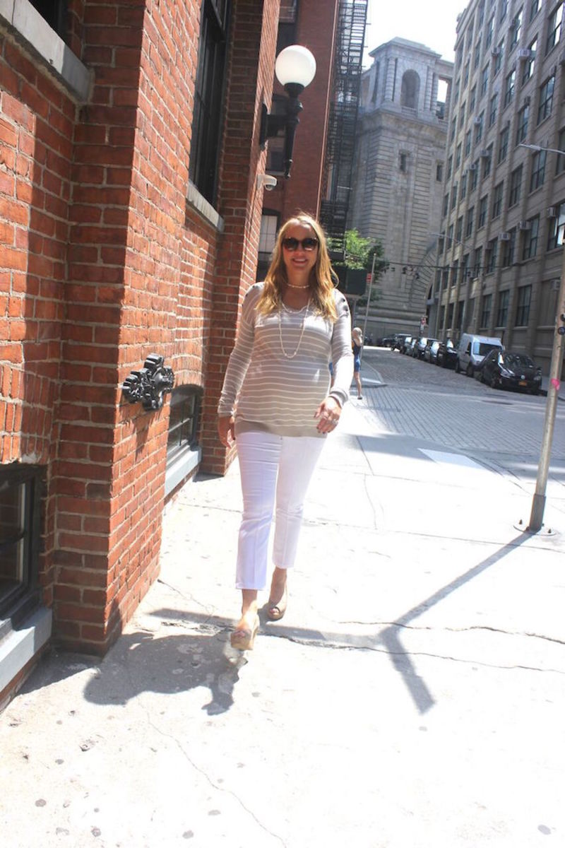 Maternity Fashion Cropped Pants and Sweater
