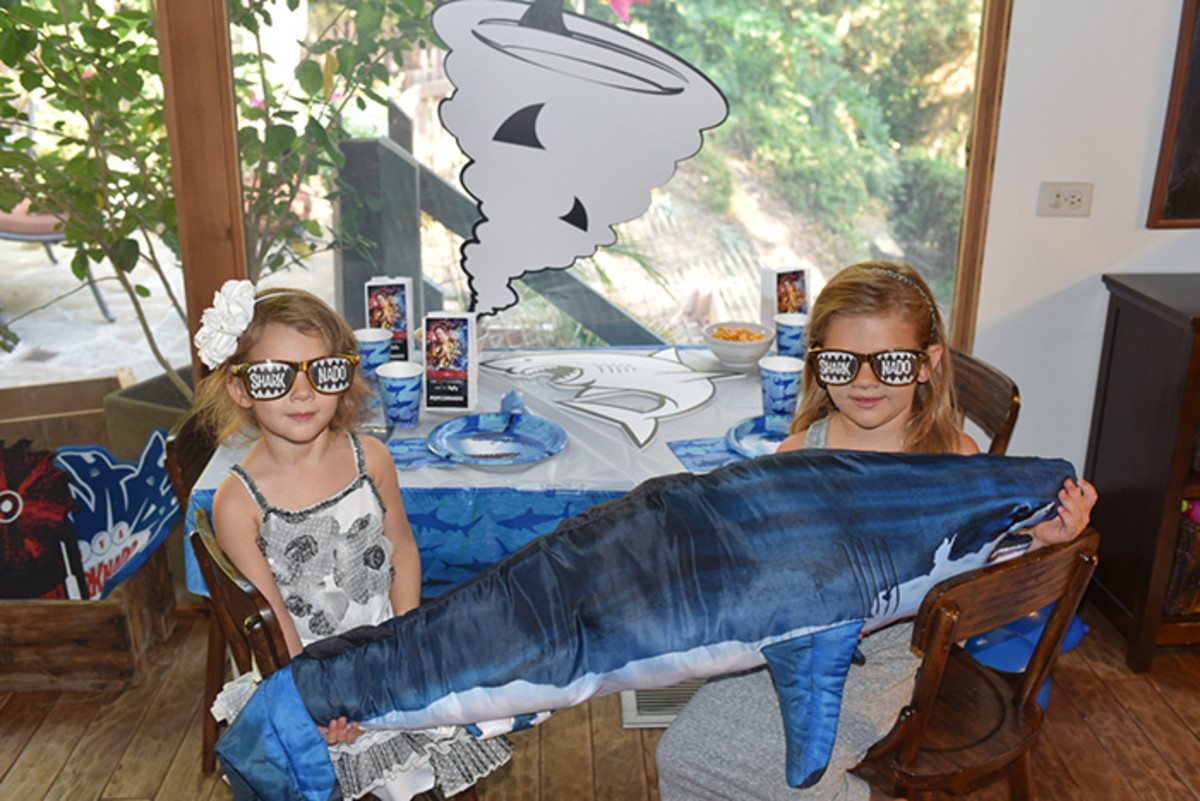 Check out Ian's adorable daughters at their Sharknado premiere party. Photo via At Home With the Zierings