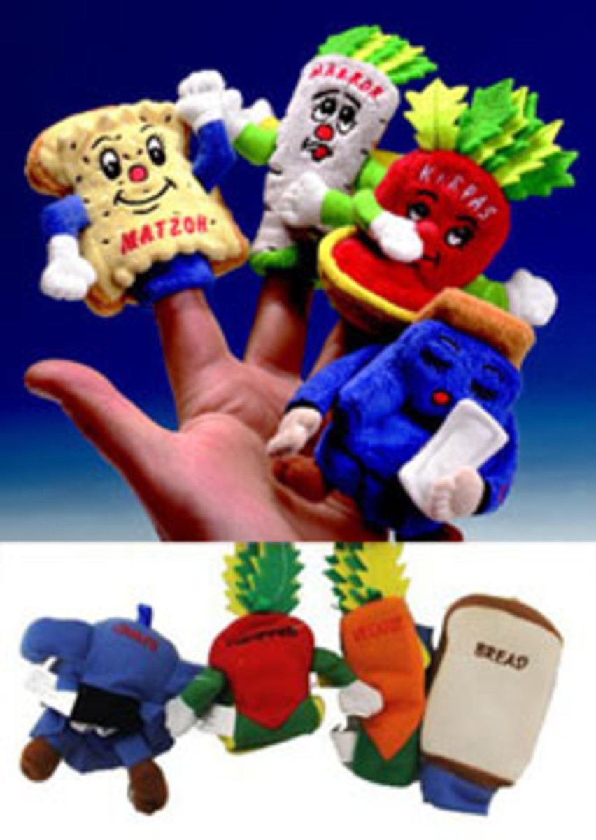 passover 4 questions finger puppets