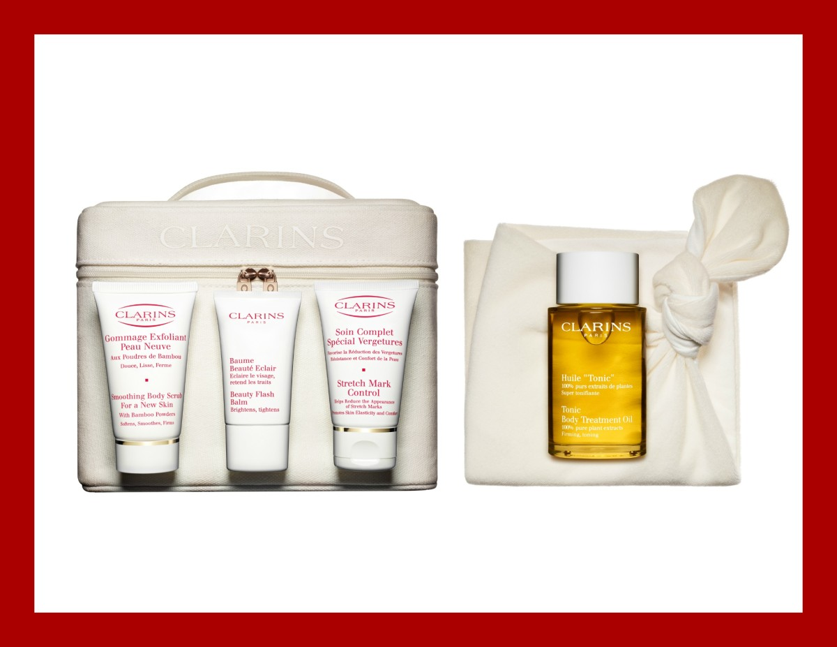 clarins unveils new beautiful beginnings pregnancy kit