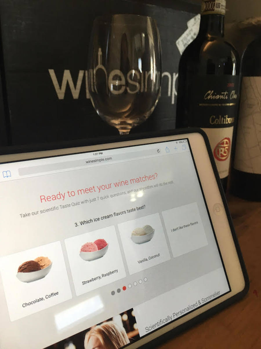 wine simple personal shopping