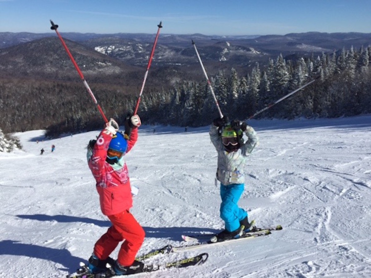 kids skiing at Mont tremblant