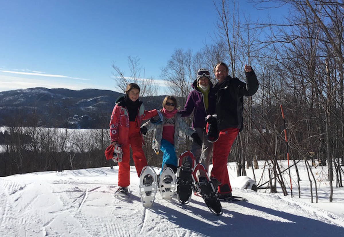 family snow shoe trip