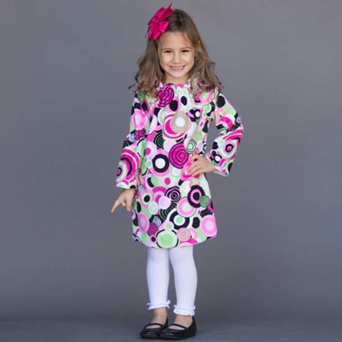 "Perfect for Back to School a lot of dresses from Lolly Wolly Doodle size Included is a orange and white flutter sleeve, a pink 3/4 length, a gold and navy monogrammed ""T"" and an orange and black."