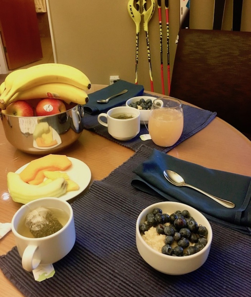 Breakfast in room at the Westin