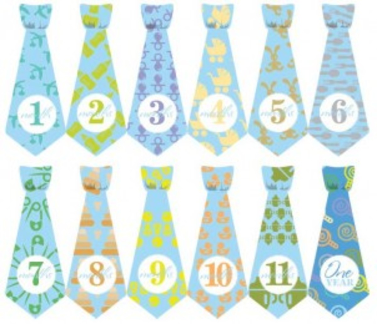 12 month baby ties