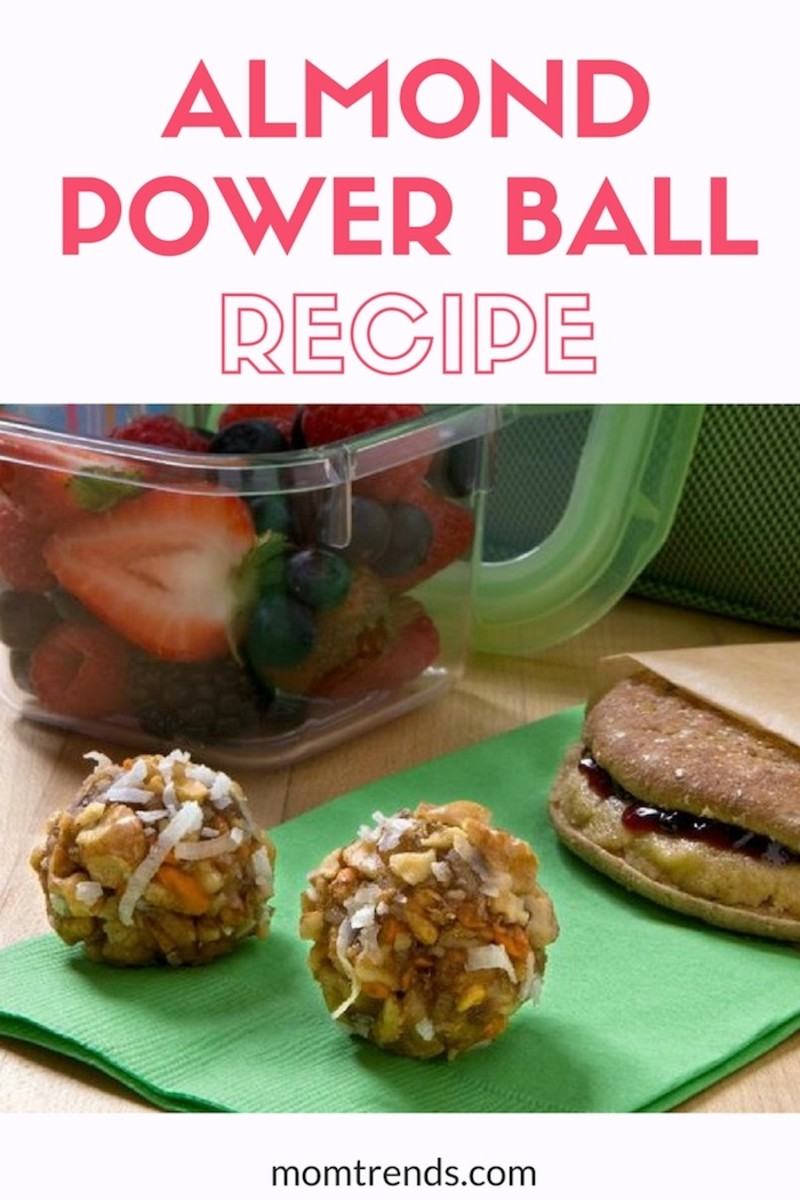 Almond Power Ball Recipe your kids will love. #kidfood #recipe