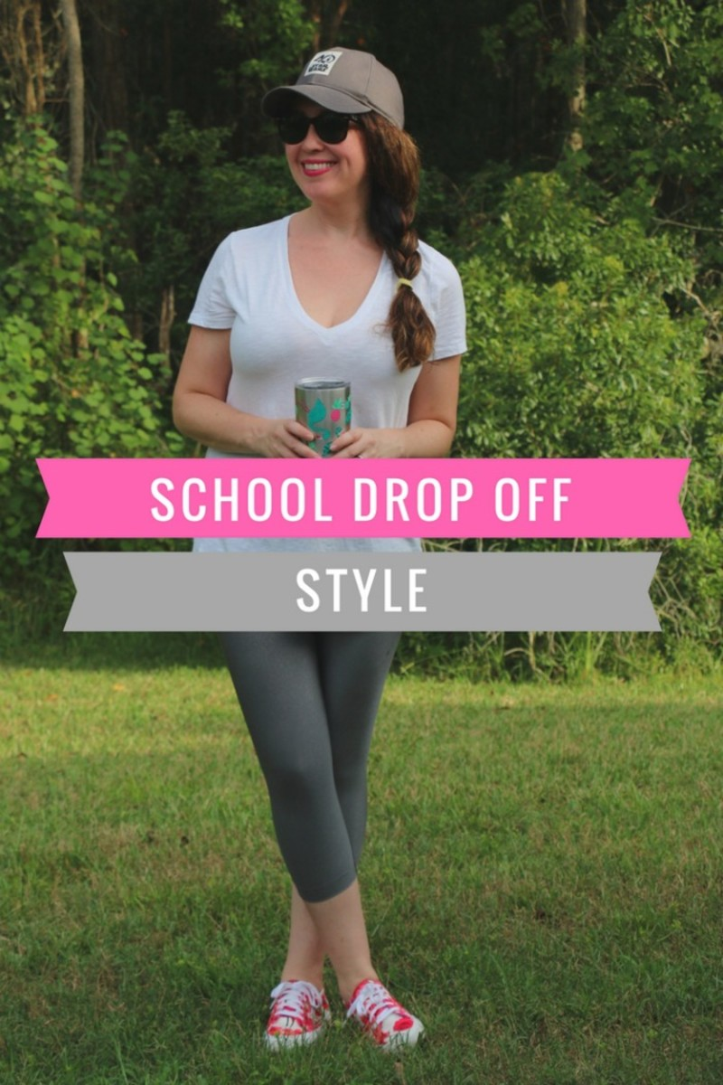 school drop off style for moms
