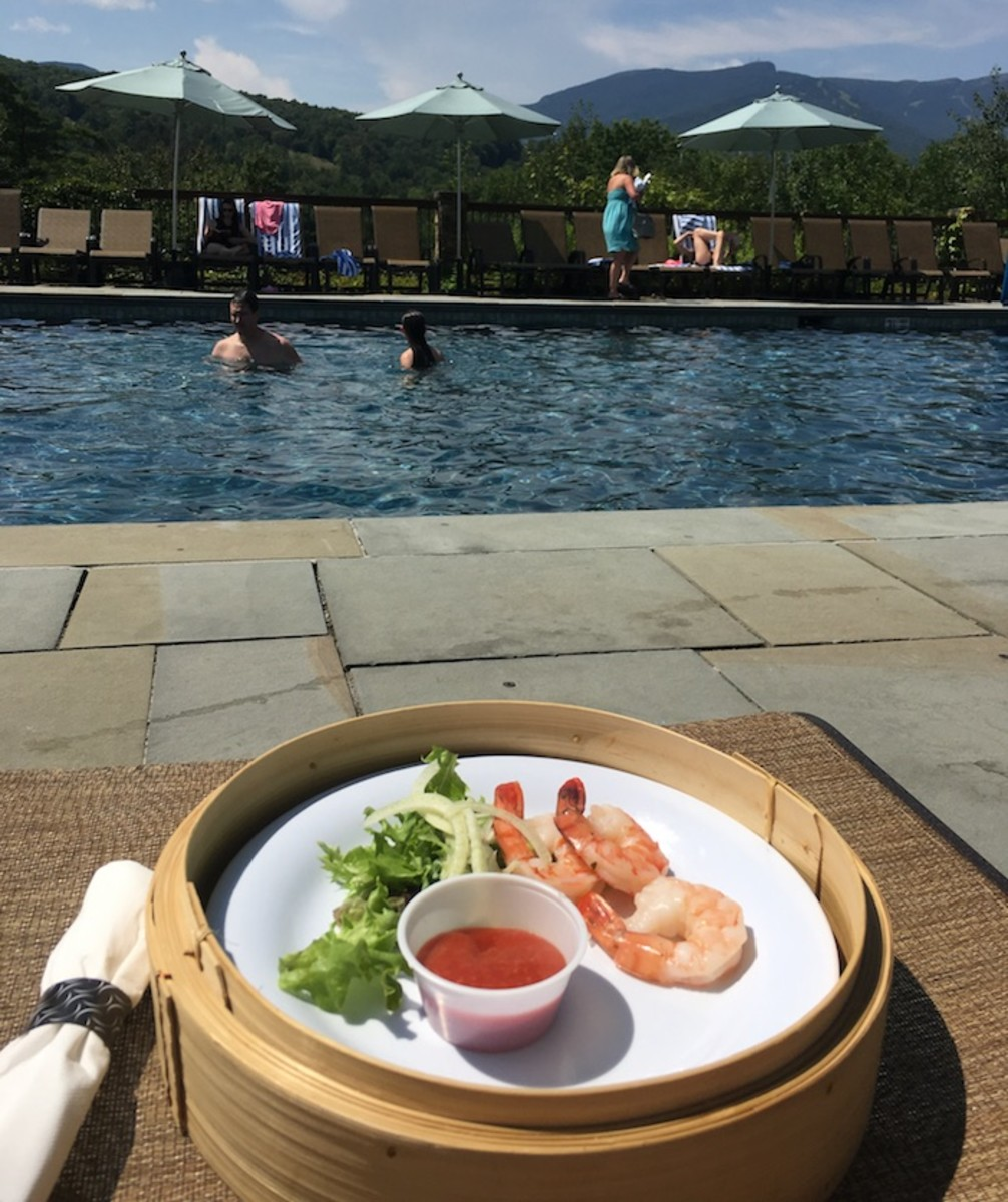 Poolside snacks at topnotch