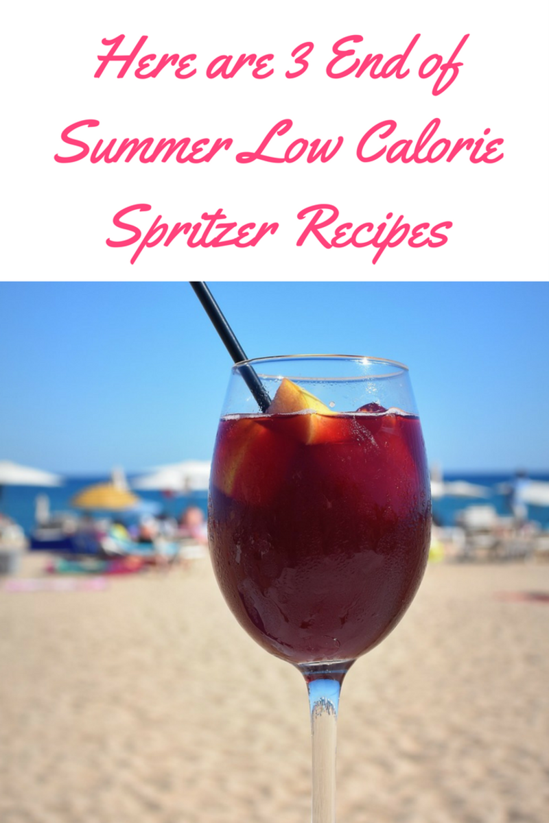 Here are 3 End of Summer Low Calorie Spritzer Recipes