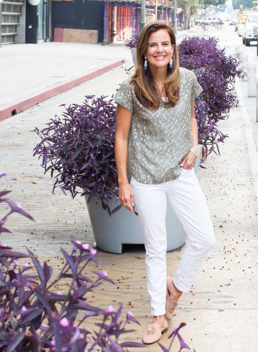 Transitioning to Fall with White Jeans