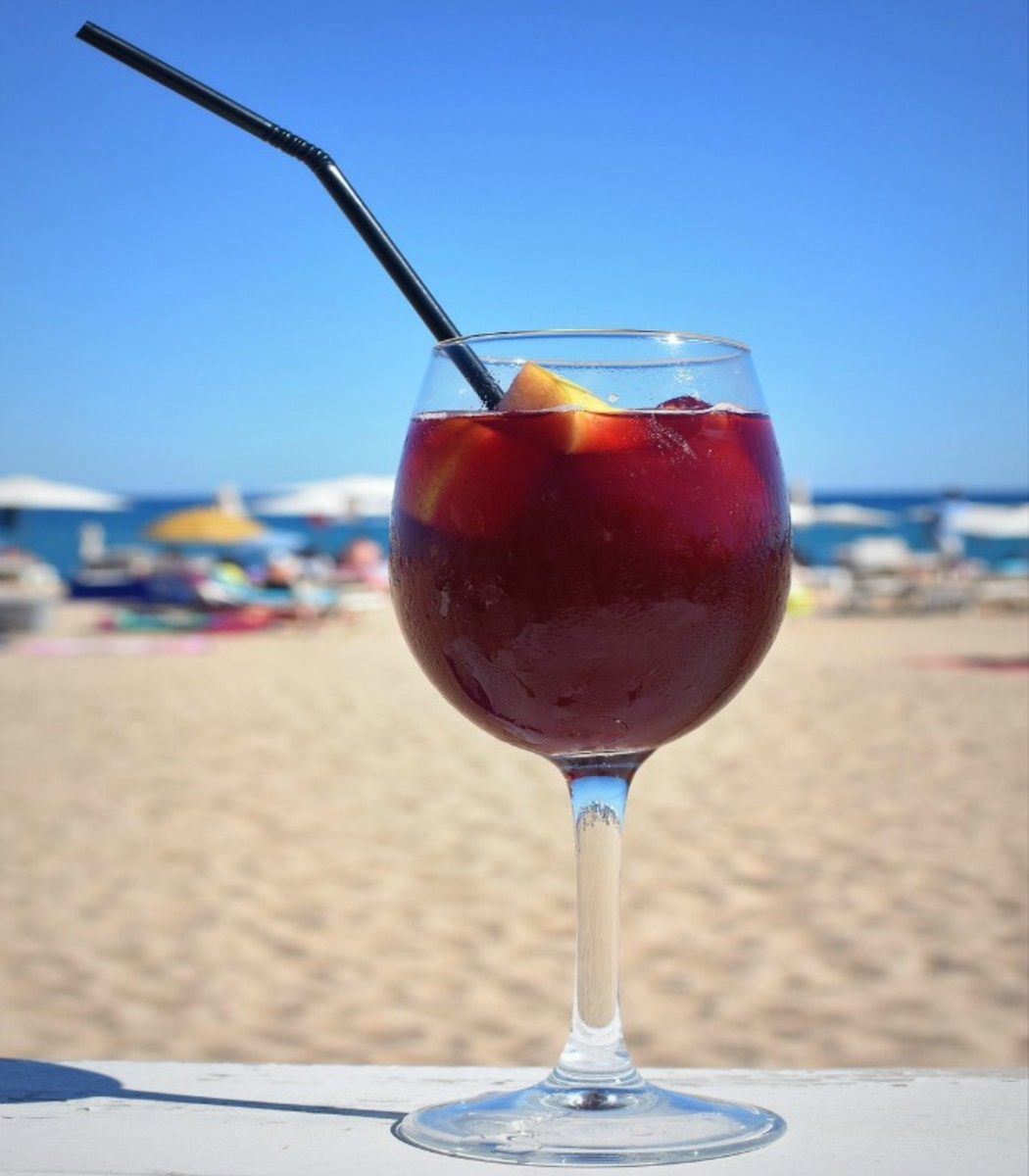 Sparkling Sangria for one last summer beach trip.