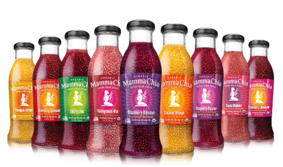 chia seeds, mamma chia vitality drinks