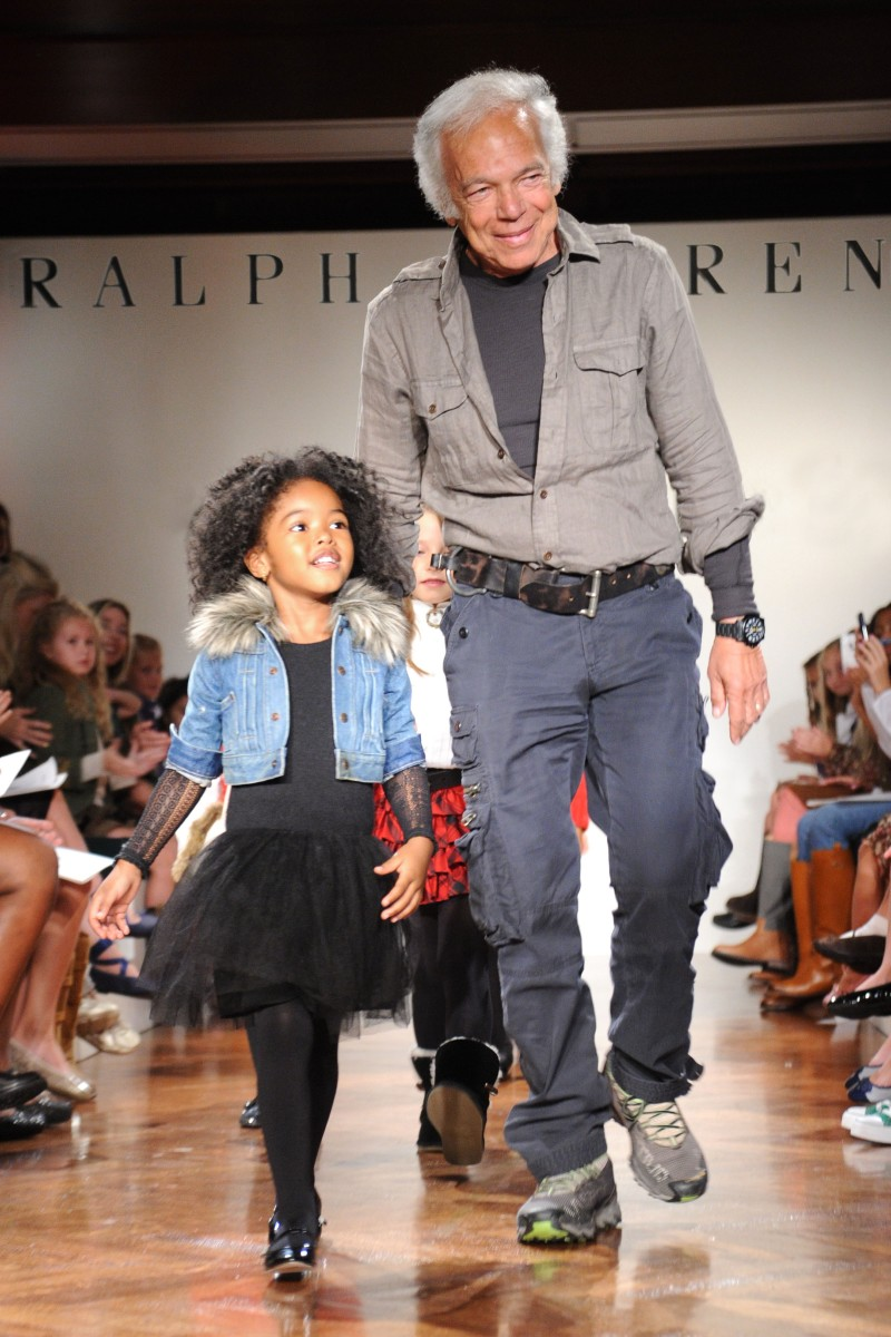 Ralph Lauren on Runway at Girls Fashion Show