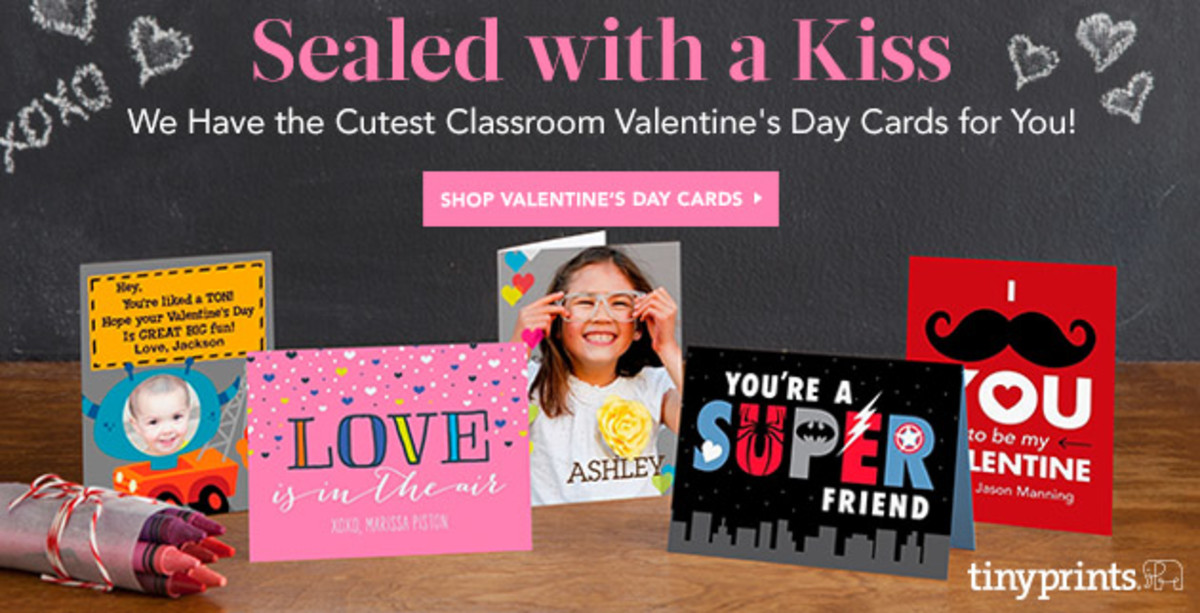 tiny prints valentine's cards