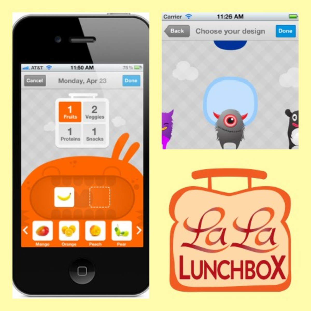 New La La Lunchbox App