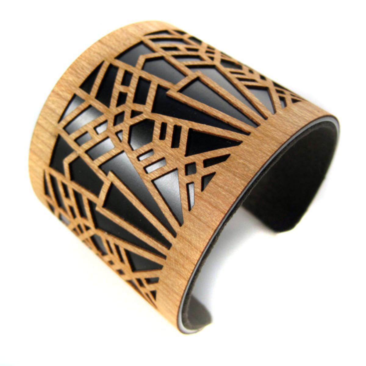 Joyo_laser_cut_wood_jewelry_cuff_bracelet_deco_metropolis_black_1_grande