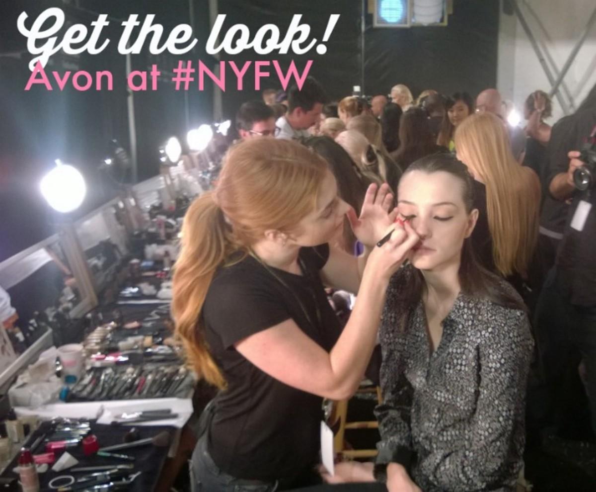 get the look avon makeup at #NYFW