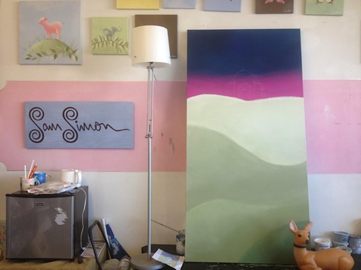 sam simon painting