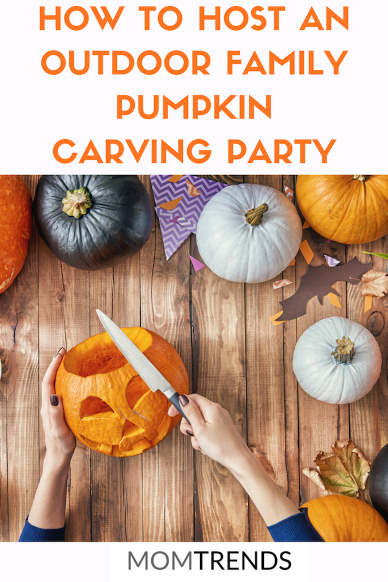 Host an Outdoor Family Pumpkin Carving Party #pumpkincarving #fallparty
