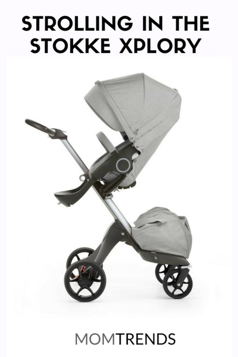 Strolling in the STOKKE Xplory #babyregistry #strollers