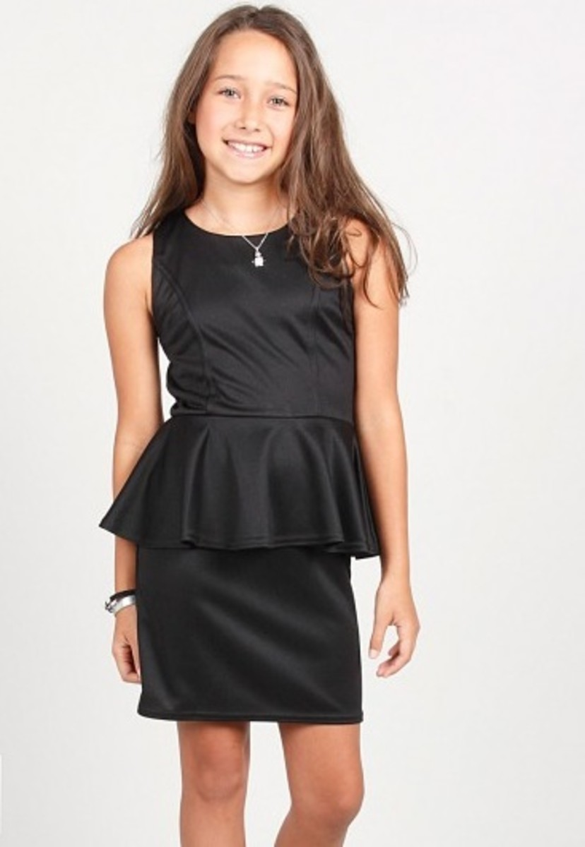 peplum dress for girls