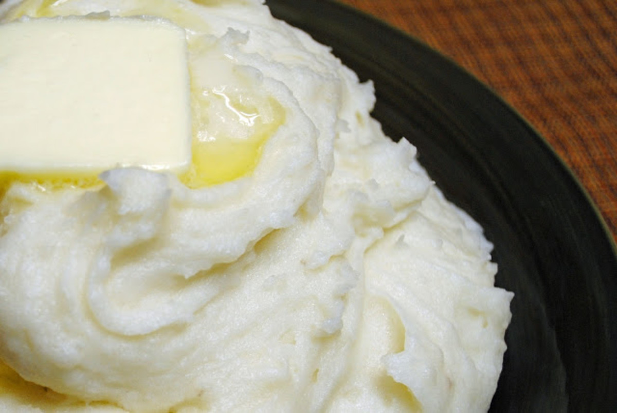 mashed white potatoes