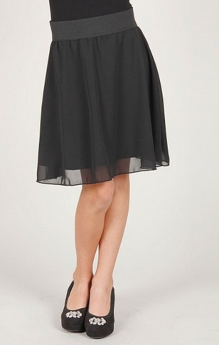 chiffon skirt for girls
