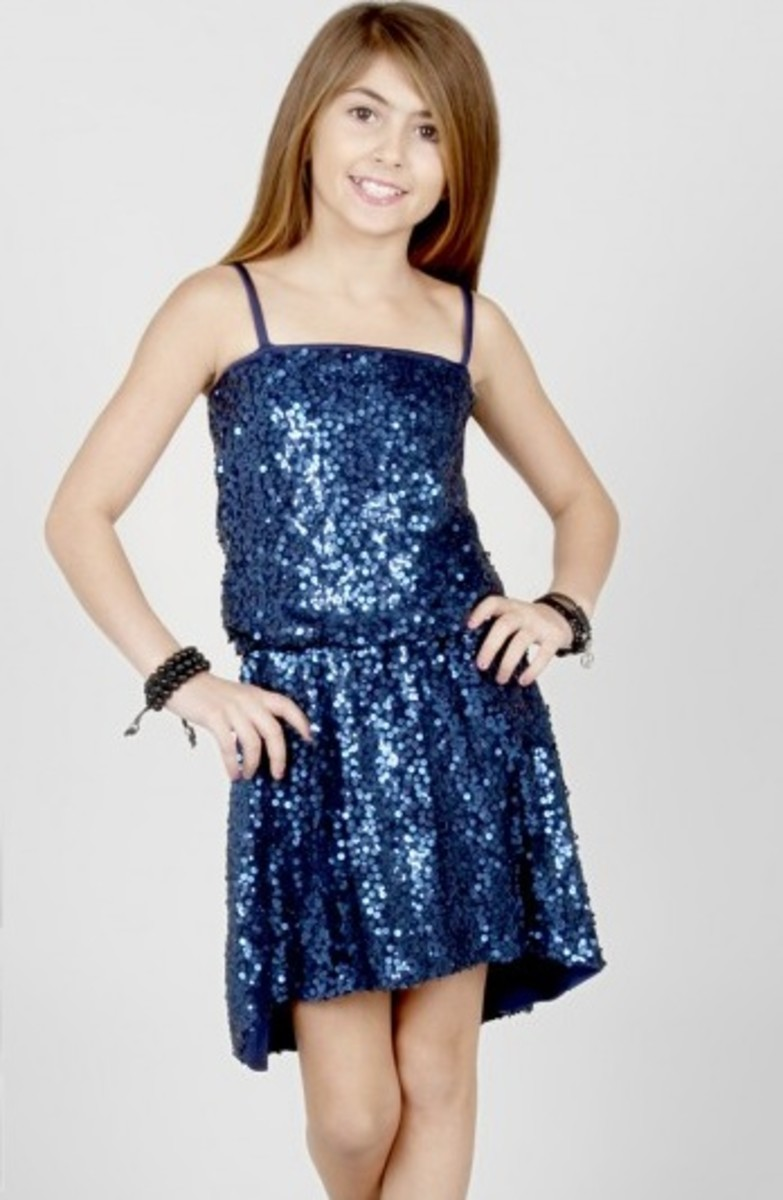 hi low sequin dress