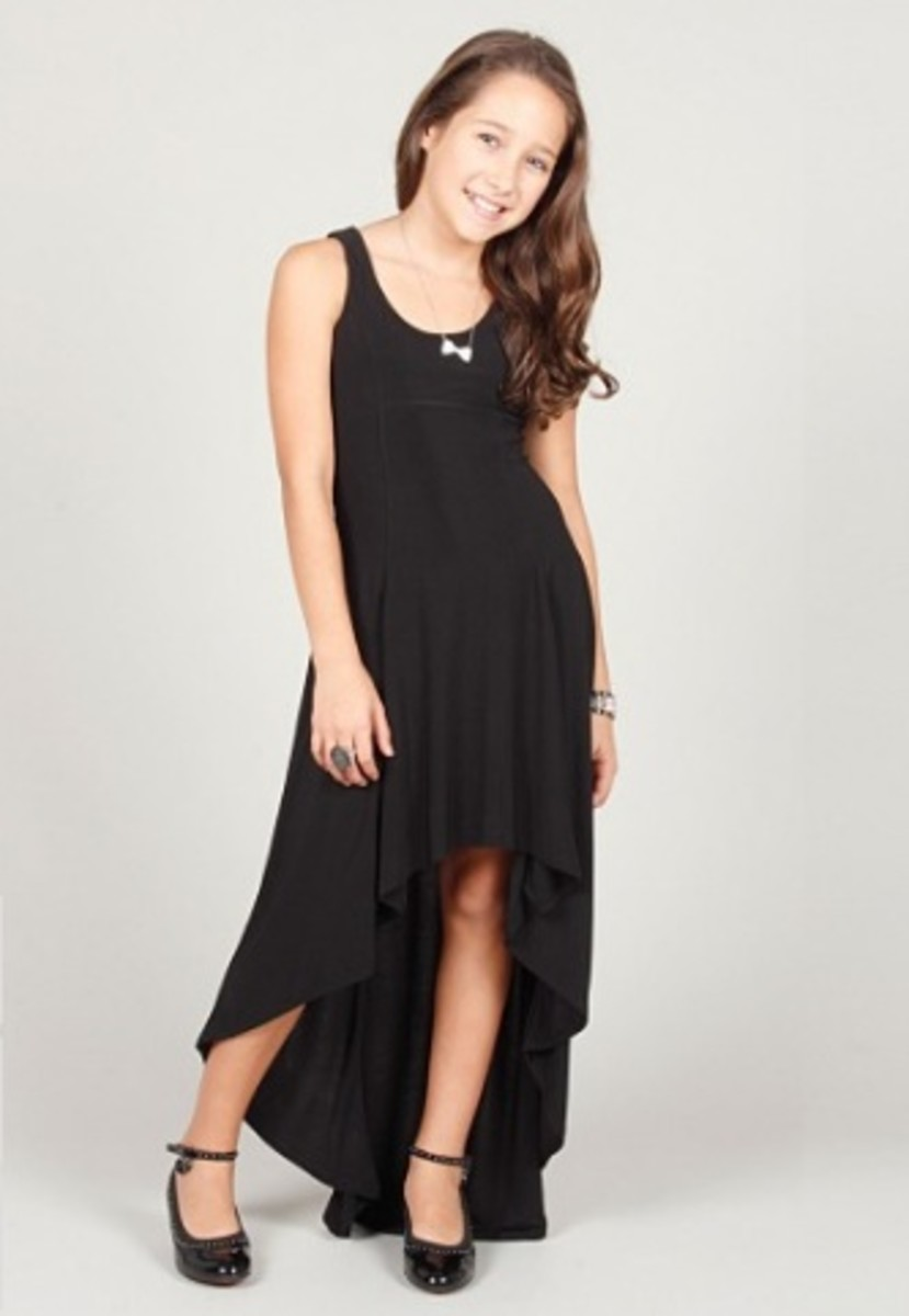 hi-low sleeveless dress