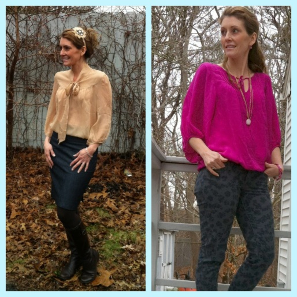 Paired with a slim pencil skirt or floral denim, romantic blouses are versatile and stylish