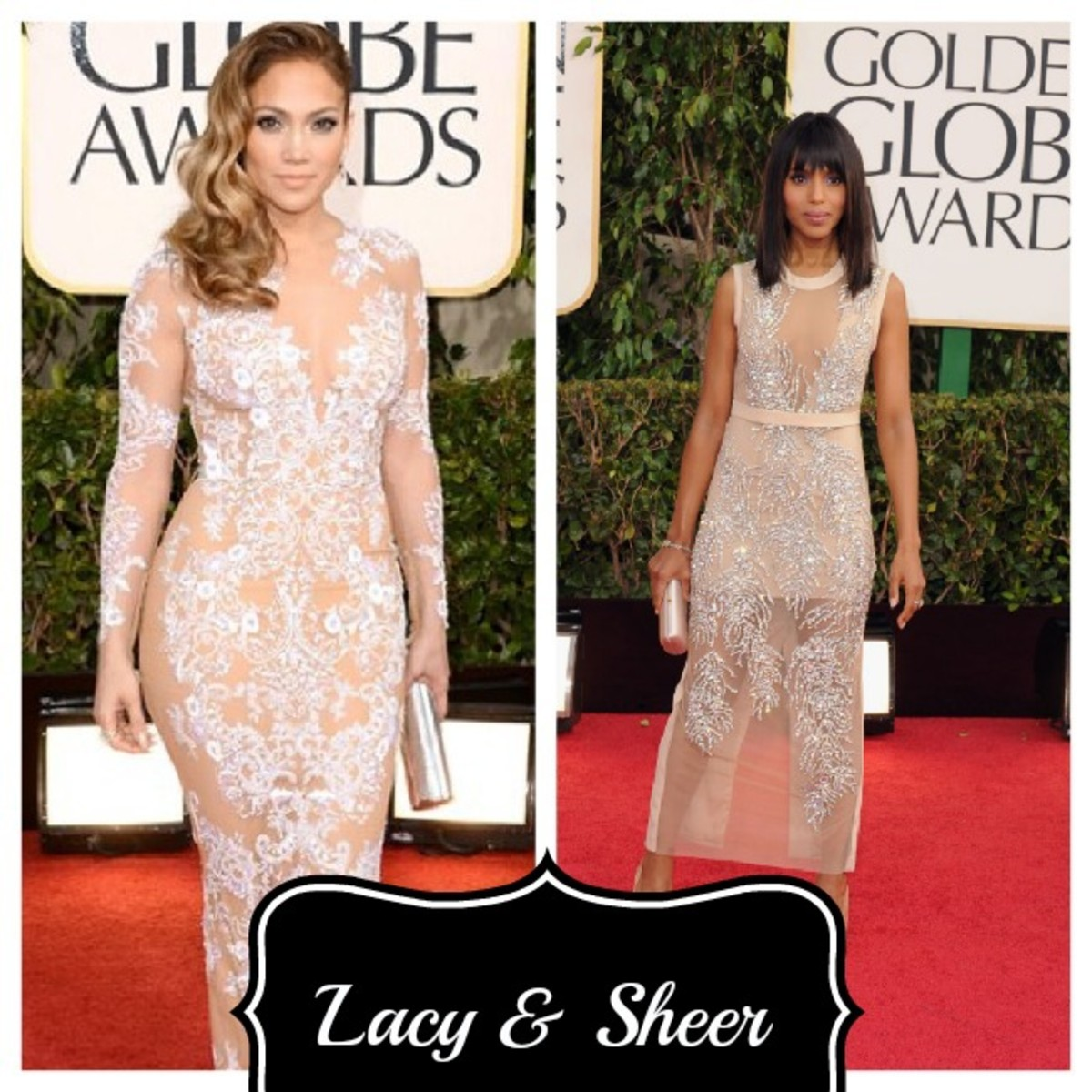 golden globe sheer and lace