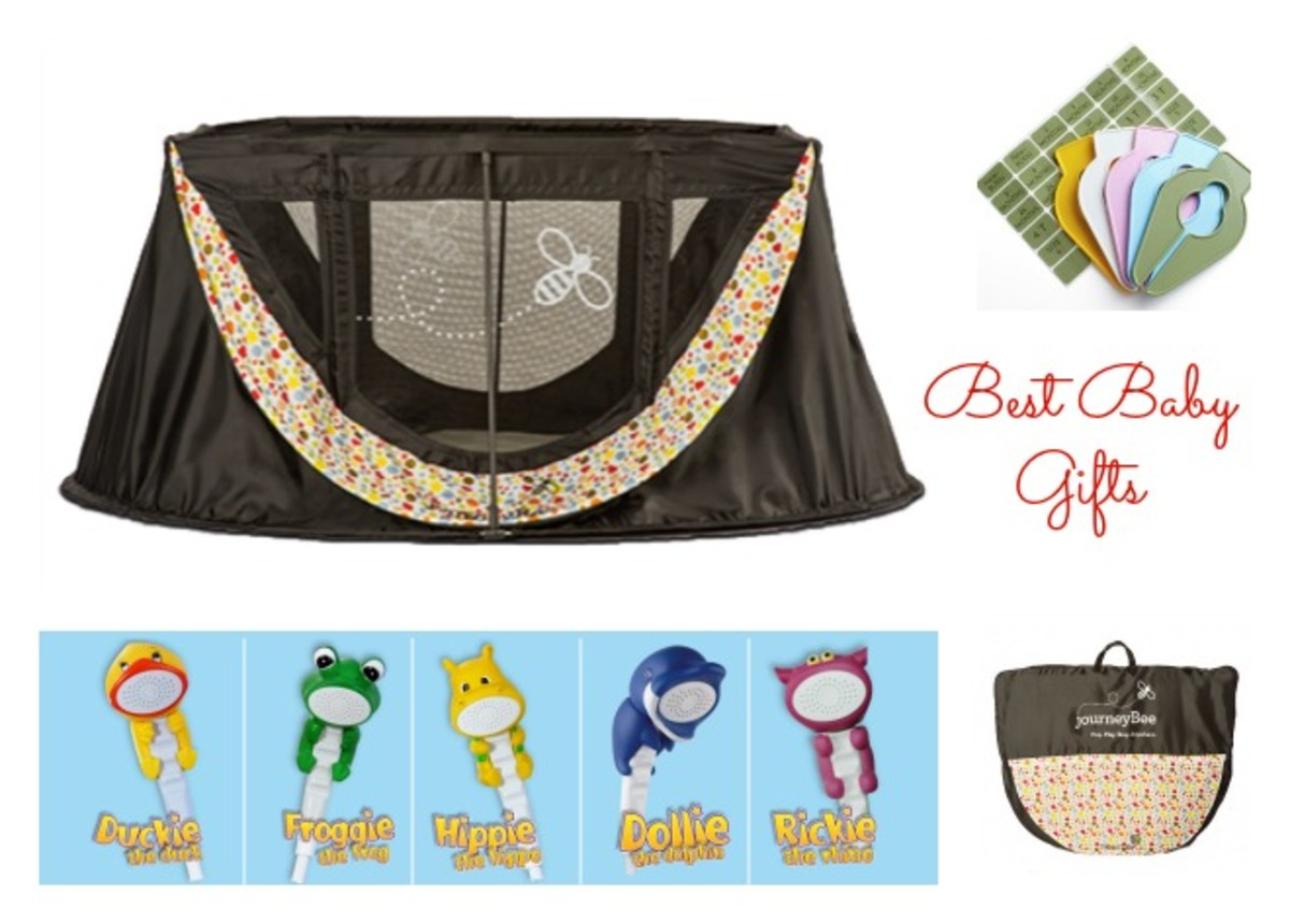 journey bee, travel bed, rubber duckie & friends showerhead, baby buddy, closet dividers