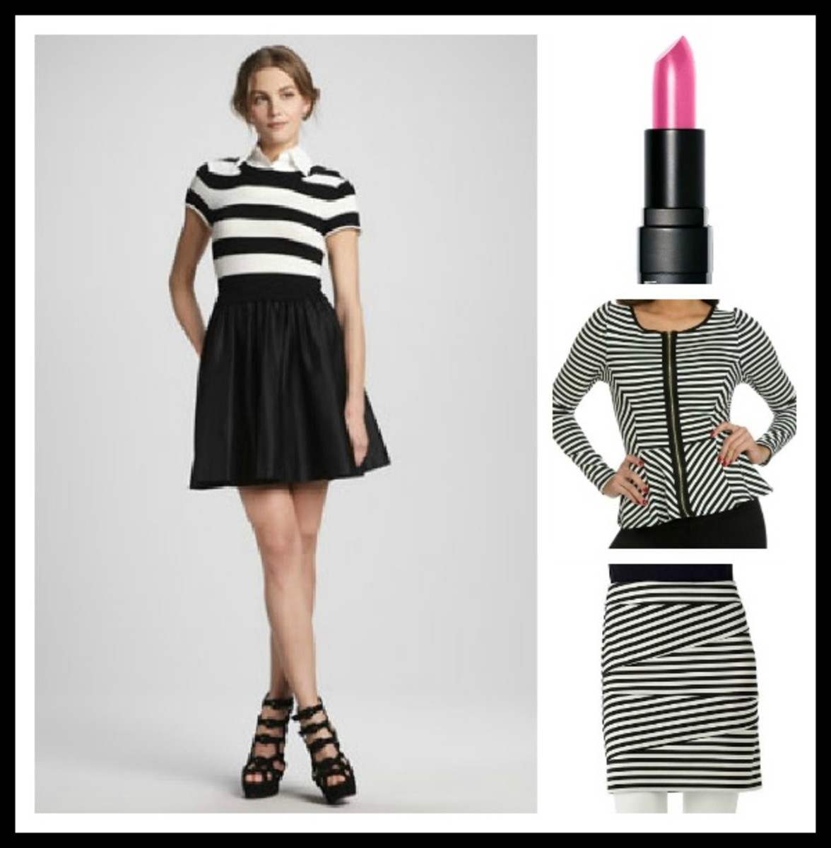 stripes, black and white, spring 2013 fashion trends, black and white stripes