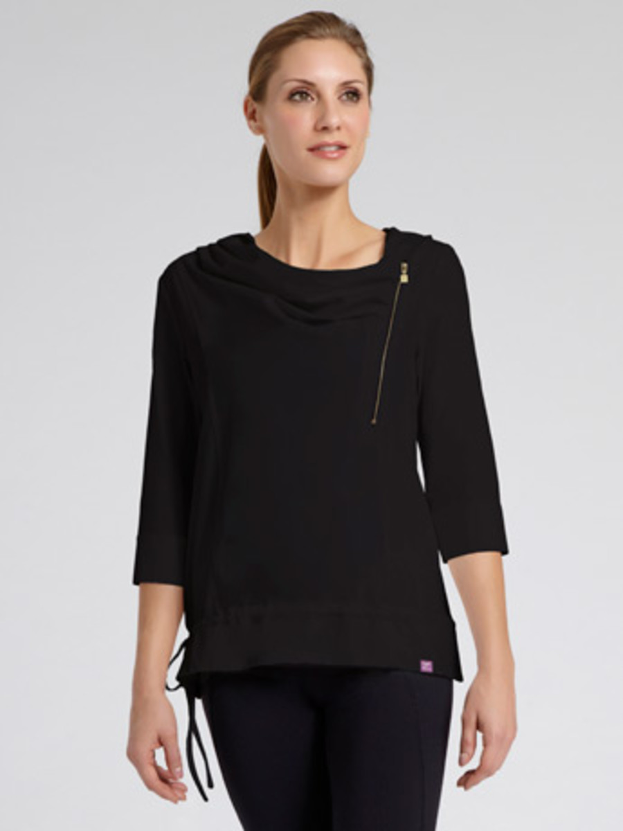 Zobha Woven Cowel-Neck Pullover. Sophisticated Cover Up!