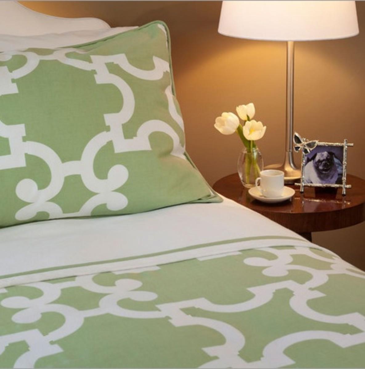 noe green bedding