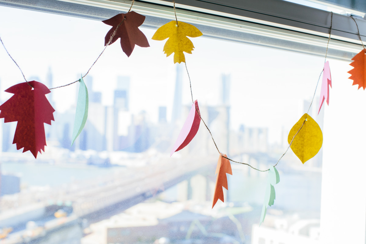 leaf window garland