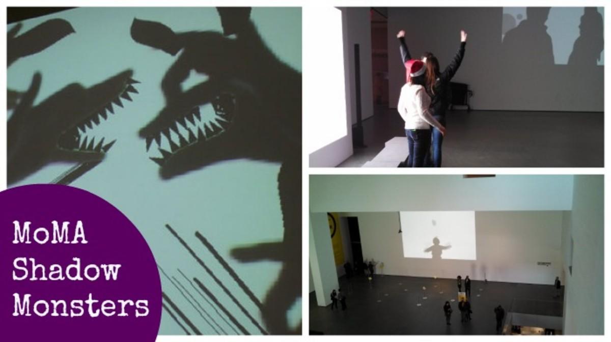 MoMA shadow monster exhibit