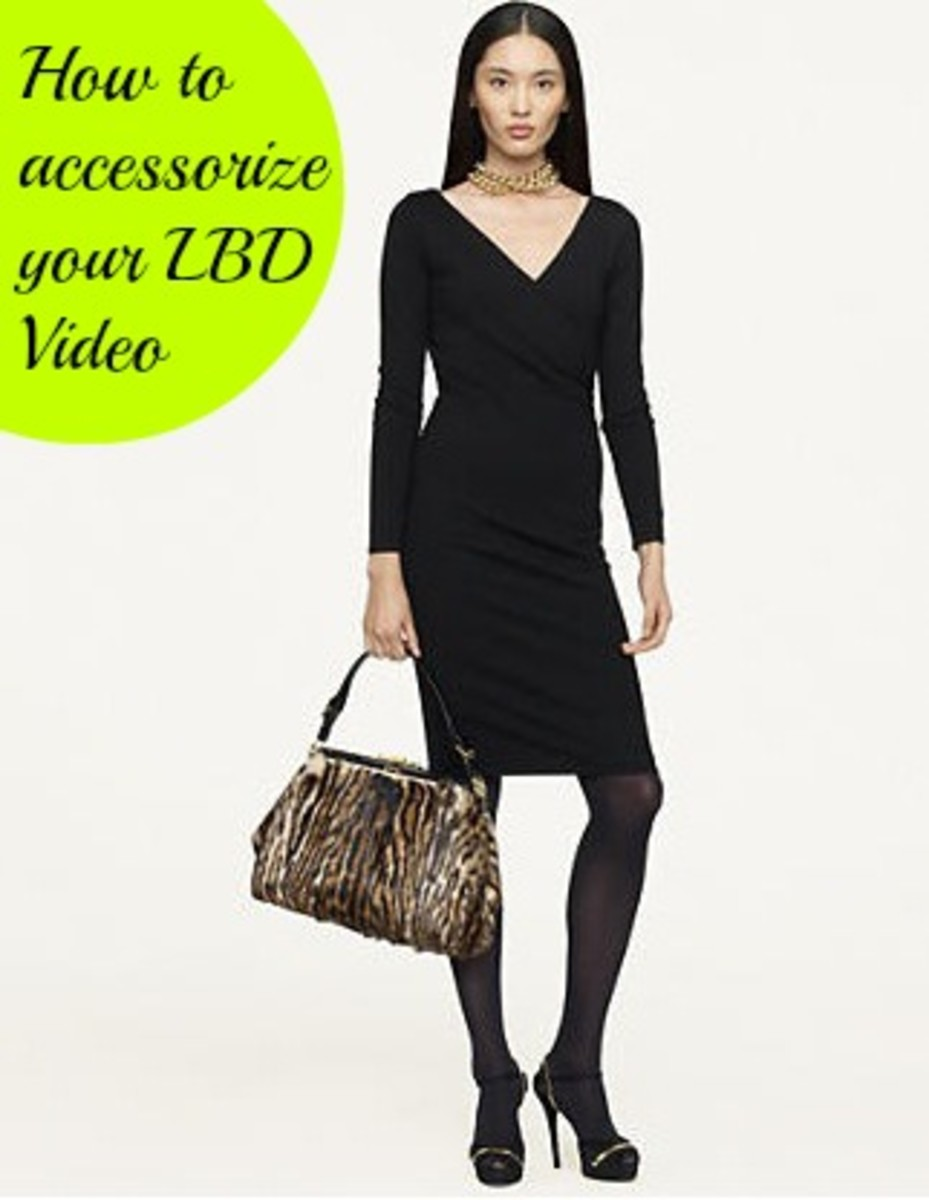 accessorize your black dress
