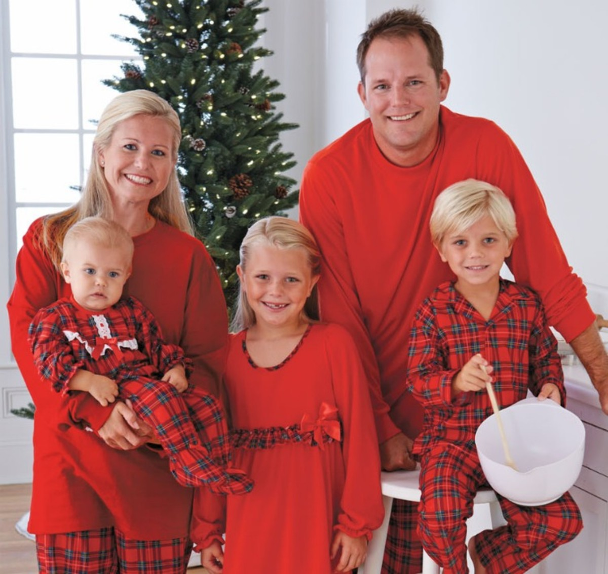 plaid christmas pajamas