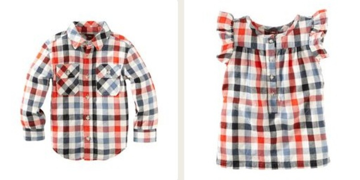 cute plaid tea collection tops