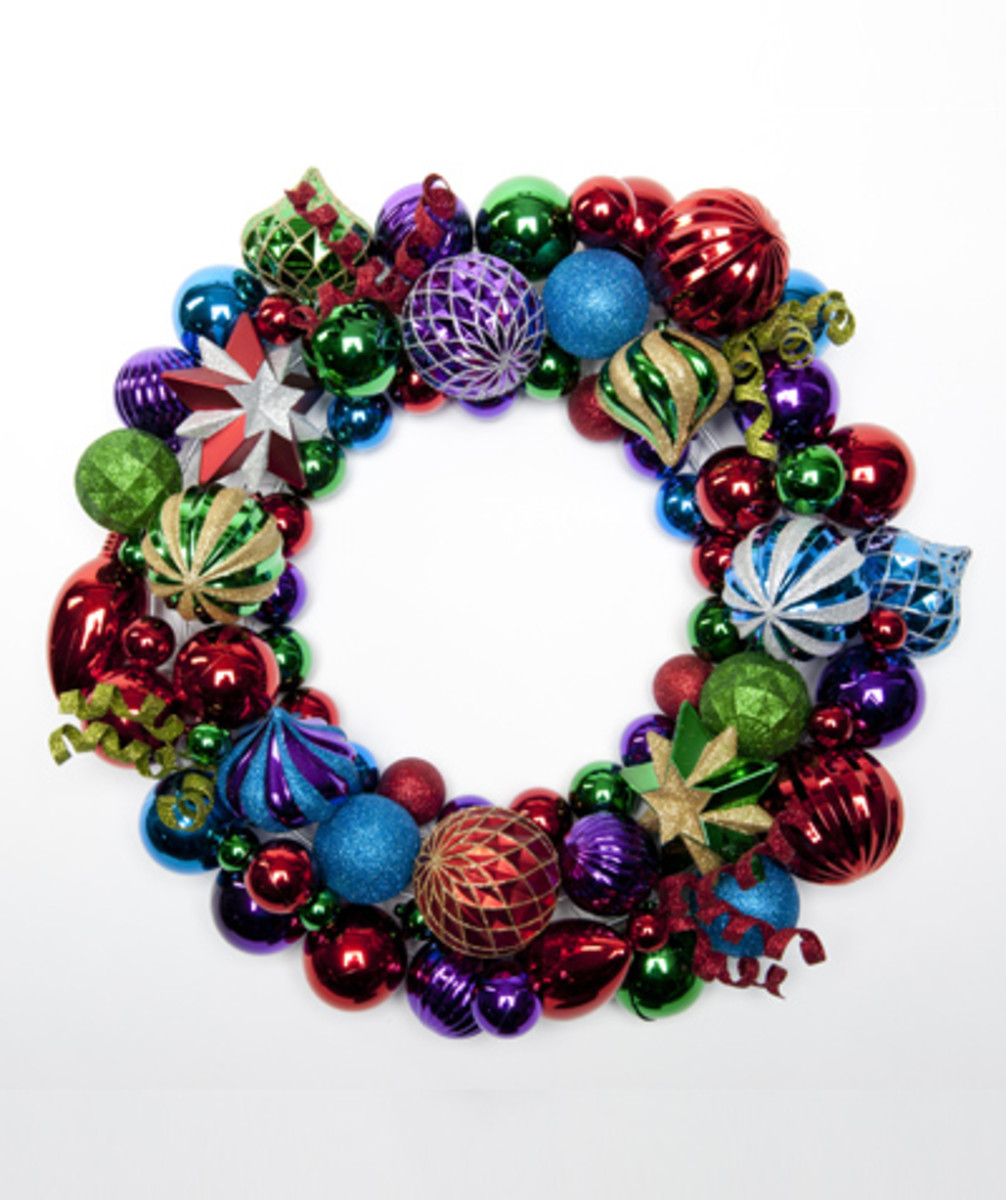 bright holiday wreath
