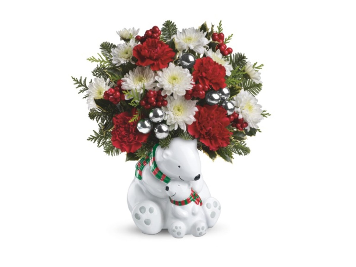 Teleflora's Send a Hug Cuddle Bears Bouquet