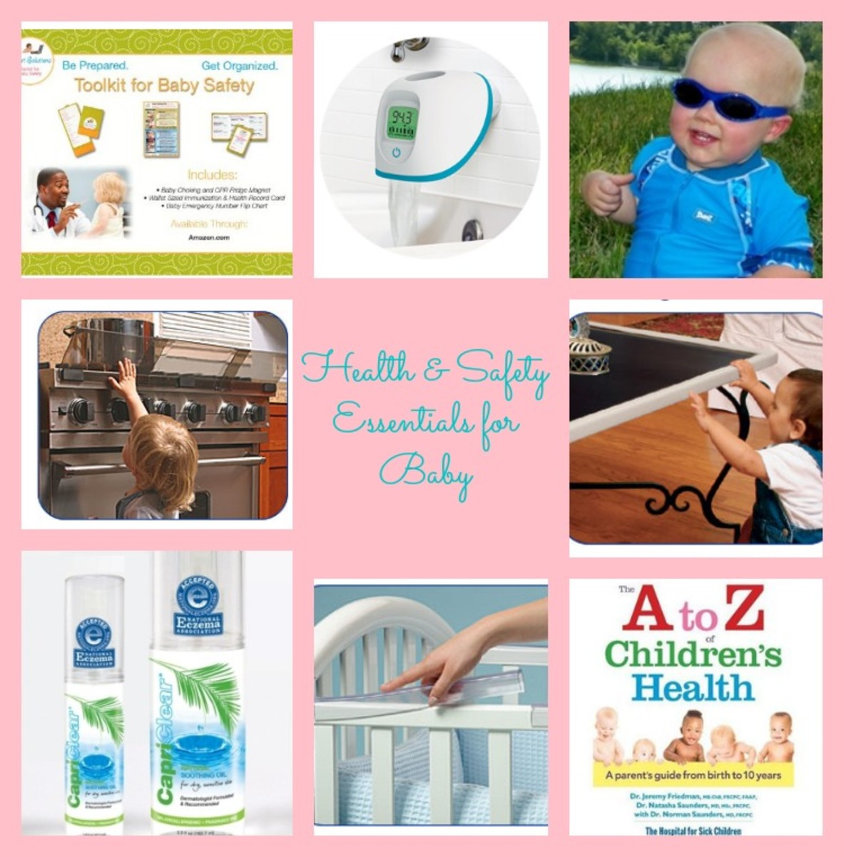 capri clear, a to Z children's health, baby banz, easy access bandages, 4 moms, prince lionheart